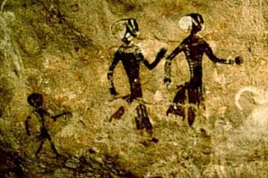 Bevor Herrschaft entstand: Frauen und Kinder - Felsmalerei in der Sahara (Tassili)